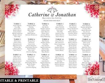 Wedding Seating Chart DIY Seating Chart Template Seating Chart DIY Wedding Seating Plan Seating Chart PDF Editable Seating Plan pdf 002