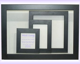 4x4 - 20x30 Black Custom Picture Frames - Custom Sizes for Art, Photography, Certificates, Wedding, Cosmatology, Wedding