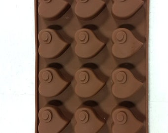 TAAVI Coiled Heart Silicone Candy Mold (T-831)