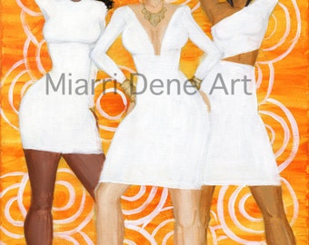 Sunrise Queens, african american women, black art, african American art  print