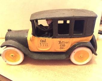 Cast Iron Yellow Cab Co. Car