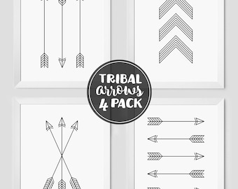 Tribal Arrow Prints, Printable Art, Wall Prints, Arrows, Arrow Printable, Arrow Wall Art, Chevron Print, Arrow Wall Prints, Printable Arrows