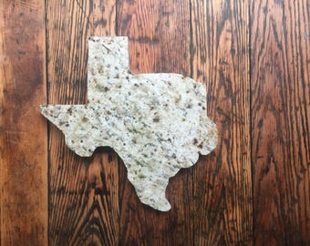 Texas-shaped stone
