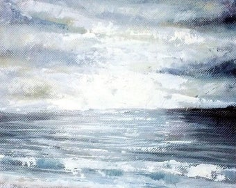 Grey - Original Framed Oil on Canvas Painting by Sam Lyle