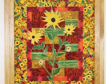 Sunny Day Suzie - Applique -  Art Quilt PDF E-Pattern