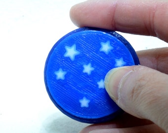 Starry Sky Hand fidget / spinner: 3D printed, customizable, metal-free, hand-held fidget
