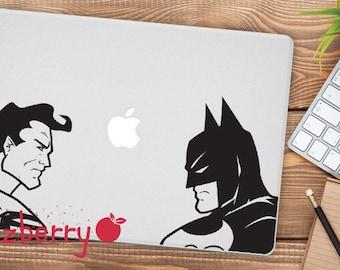 Batman Vs Superman Macbook Decal Batman Macbook Decal Superman Macbook Sticker Marvel Sticker DC Macbook Decal Sticker Superhero Decal