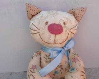 Rag doll, cat doll- DEPOSIT ONLY, handmade soft doll, dolls for toddlers,stuffed animal, fabric doll, special gift for cat lovers, cute doll