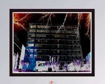 Landscape laminate abstract, new media, Print abstract art, Digital art download, wall art,sheet digital , Original Design, Artexai, jEchai