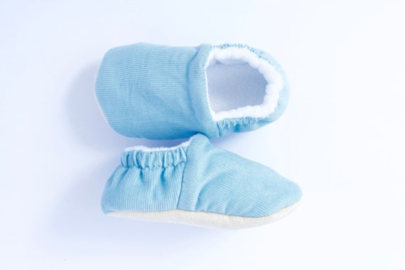 Baby blue Corduroy  baby moccs unisex. for pre walkers and toddlers