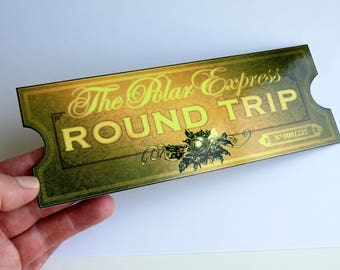 The Polar Express Train Ticket - Printed Replica Double-Sided on Photo Paper