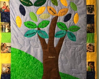 Photo Family Tree Quilt