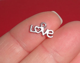 20 Love Charms 6.5x12x1.5mm Item:A17