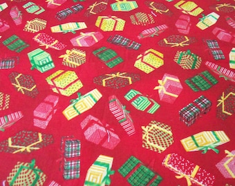 Christmas Packages  Fabric Gifts Wrapped Colorlfu New By The Fat Quarter