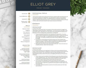 Modern Resume Template   Professional Resume Template For Word And Pages    1, 2 And