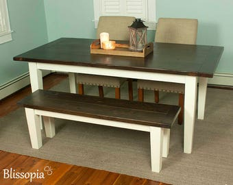 Tapered Leg Farmhouse Table Dining