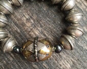 Middle Eastern Bracelet,Ethnic Bracelet,Tribal Braclet,Moroccan Bracelet,Tribal Bracelet,Turkmen Bracelet,Boho Style Braclet,Mixed Metal