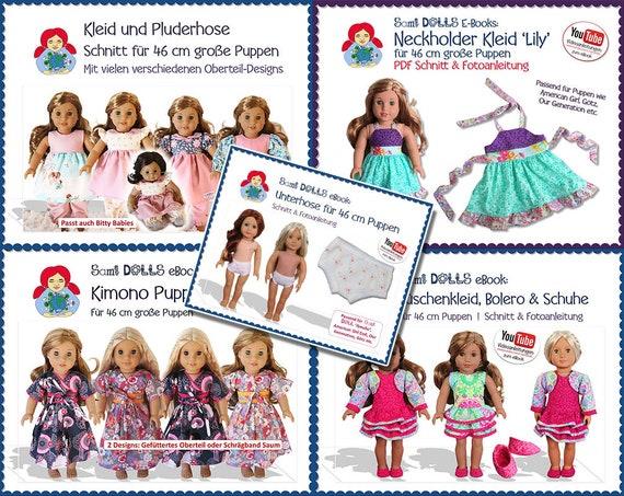 46 cm Puppe Schnitt Paket 5 Schnitte für American Girl Doll