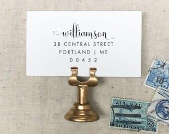 Custom Return Address Stamp. Self-Inking Stamp. Wood Stamp. Wooden Mailing Stamp. Custom Address Stamp. Self-Inking Address Stamp. STYLE 62