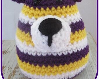 Bear kids blanket, amigurimi crochet handmade