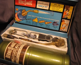 Vintage Bernz O Matic Deluxe Torch Kit with Toolbox