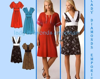 Simplicity 0643 3875 Womens Boho Style Pullover Dress with Neck & Sleeve Options size 12 14 16 18 20 Dress Code Sewing Pattern Uncut FF