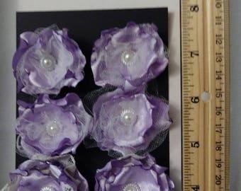 Handmade Fabric Flowers burned edges