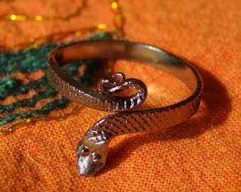 Foot ring / toe Bell metal snake silver toe ring