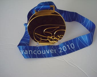 2010 Vancouver Olympic 'Gold' Medal with Silk Logo Ribbon  !!!