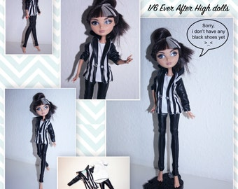 Fashion outfit 1/6 Ever after high / Monster High dolls (leggings, blazer and t-shirt)