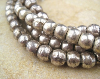 Round Silver Beads  From the Villages of Ethiopia! African Metal Beads - Silver Spacers - Wholesale African Beads - Silver Beads 202