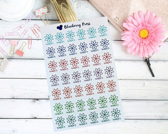 Hydrate Planner Stickers | Flower Petal Water Stickers | Erin Condren | Limelife | Happy Planner and more...
