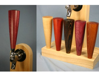 Beer Tap Handle - Your Choice of Wood - 6 Inches Tall - Made To Order
