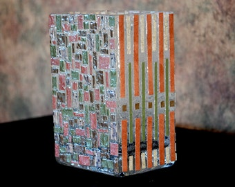 Mosaic Art Glass Vase