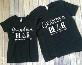 Grandma Bear, Grandpa Bear Shirt Set