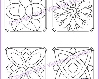 Strings for drawing zentangles_11. Zentangle starter pages. Tangle pattern printable  string, PDF.