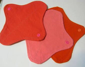 3 Cloth Panty Liners-Orange Punch