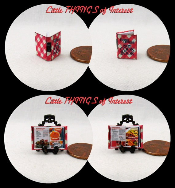 1:24 Scale Book BETTER HOMES And GARDEN Cookbook Miniature Book Dollhouse Illustrated Book Half Inch Scale