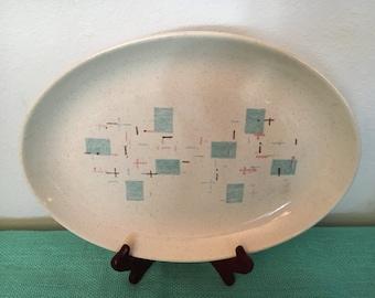 "Vernon Ware Heavenly Days Oval Platter 13 1/2"" X 10"""