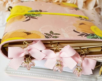 Mini Baby Pink Dangling planner paper clip