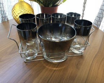 Silver Ombre Dorothy Thorpe Style set with caddy