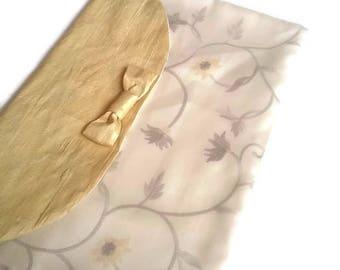 Yellow Silk Lingerie Bag Travel Underwear bag