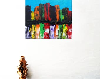 City painting / modern painting / original painting / City Mirage 2 / painting on canvas / abstract painting / colorful painting