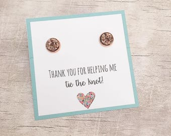 Bridesmaid Gift - Bridesmaid Earrings - Thank you Bridesmaid - Maid of Honor Gift - Maid of Honor Earrings