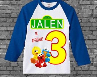 Sesame Street Birthday Shirt - Sesame Street First Birthday Shirt - Other Styles Available