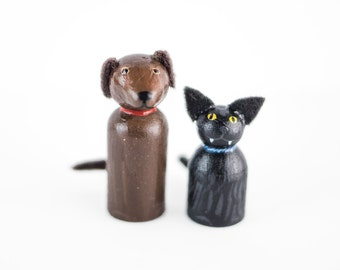 ADD ON 2 Pet miniatures - Add 2 Pets to your Custom Topper - cat lovers cake topper - dog wedding
