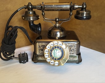 Fabulous Vintage Asian-Influenced Rotary Phone