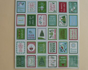 Classic Christmas Stamps stickers