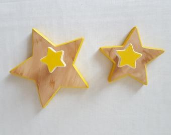Stars, wooden pegs - Mastro Déco
