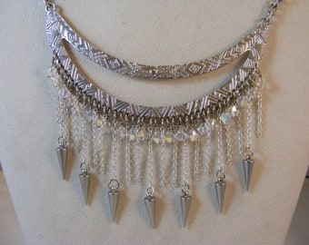 Silver Spiked Necklace